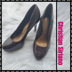 Christian Siriano High Heels sz 6 brown
